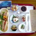 大桃美代子さんに南中生徒と料理のメッセージ